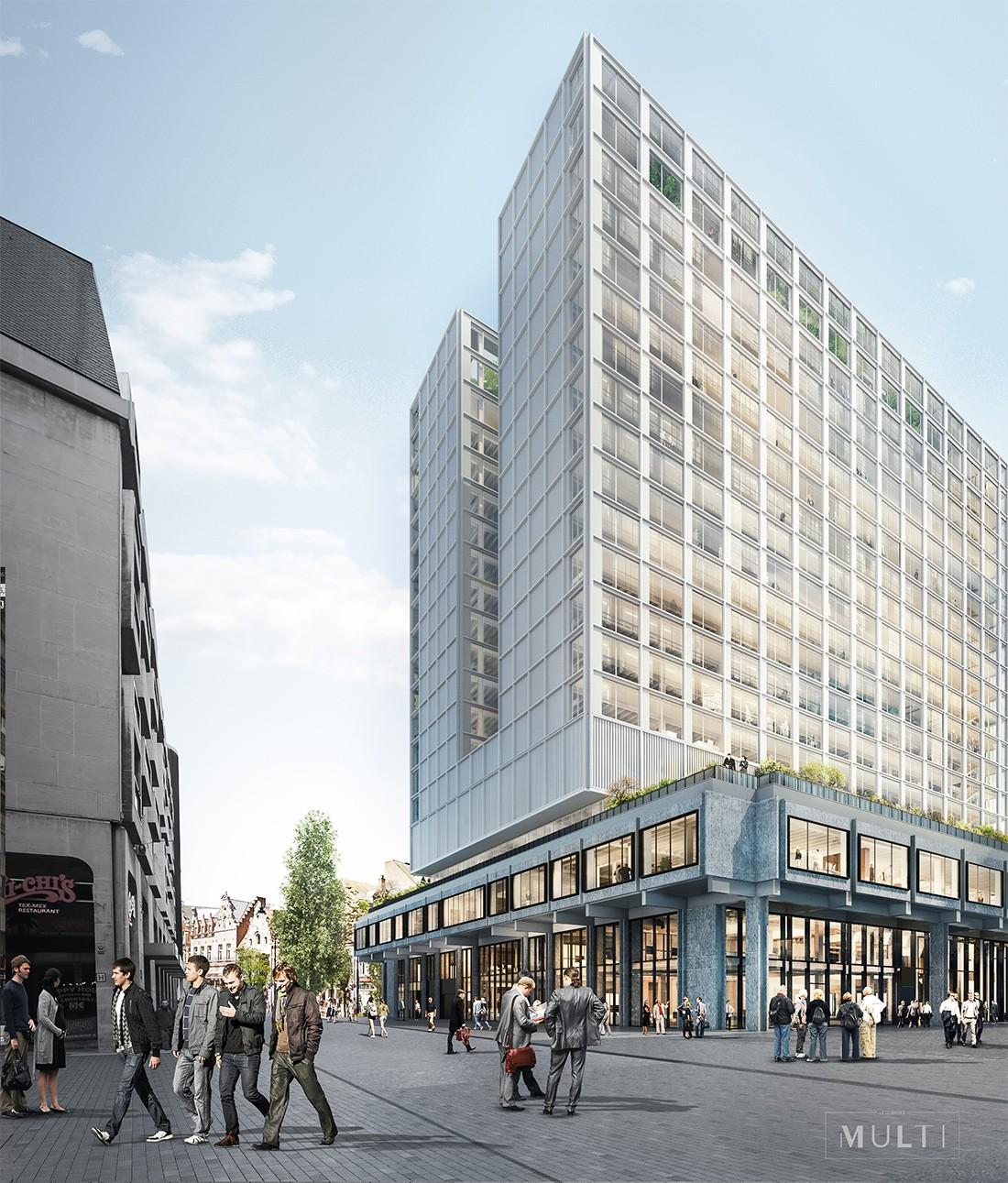 La prestigiosa constructora belga Cordeel ha contratado a STRUNOR la realización del edificio Multi Tower Brouckere